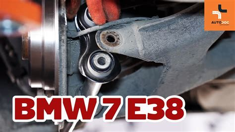 How to replace rear suspension arm BMW 7 E38 TUTORIAL