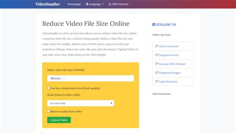 Reduce Video File Size Online, Make Video Smaller (MP4