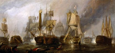 'Sketch for 'The Battle of Trafalgar, and the Victory of