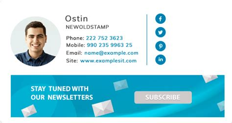 Email Signature for Gmail by Signature Generator - NEWOLDSTAMP