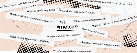 What Is Sexual Harassment? A Glossary of the #MeToo