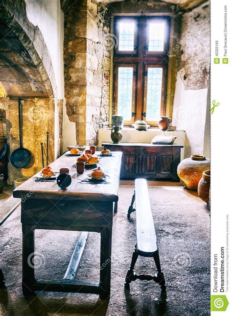 Medieval Kitchen In Old Castle Stock Photo - Image: 40325169