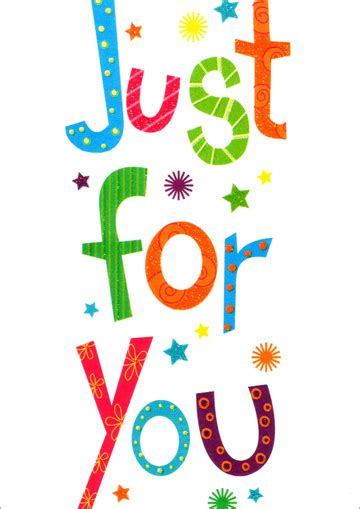 Just For You Colorful Text Birthday Card by Freedom Greetings