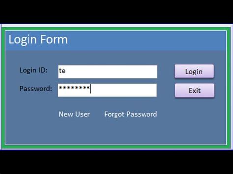 Login / Register / Reset Password Form by Security