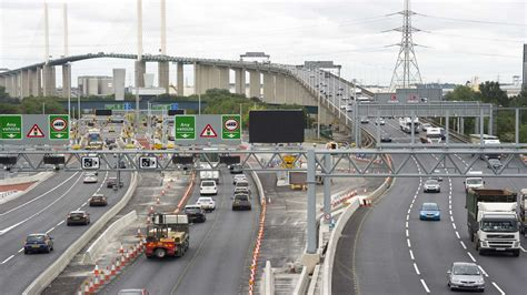 Queues near Dartford Crossing after accident on M25