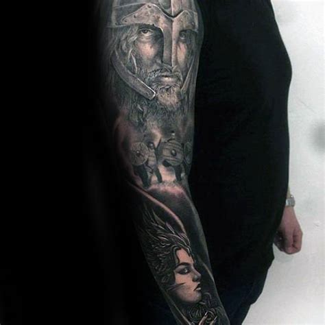 60 Valkyrie Tattoo Designs For Men - Norse Mythology Ink Ideas